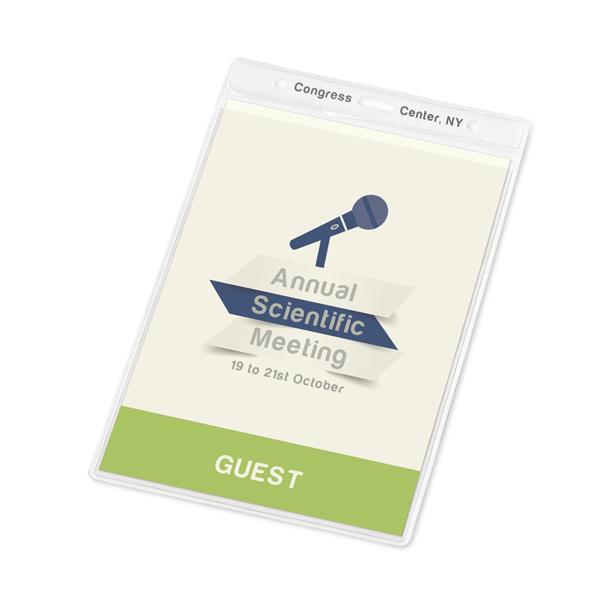 Salon profesionnel - Porte-badge publicitaire Guest