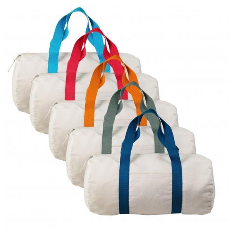 Sac publicitaire sport polochon en coton recyclé Magnum - Coloris disponibles
