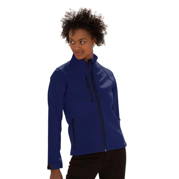Textile publicitaire - Veste softshell publicitaire femme Aida 340 g/m²
