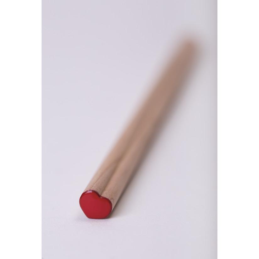 objet opublicitaire écologique - crayon bois publicitaire en forme de coeur