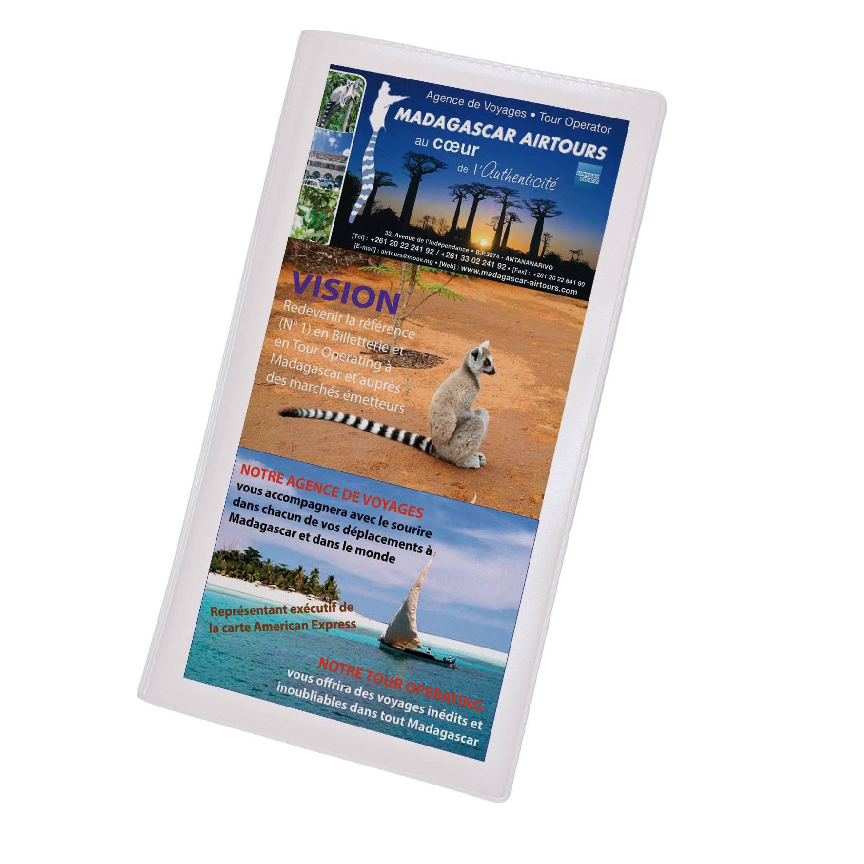 Cadeau promotionnel - Pochette de voyage publicitaire Verticale