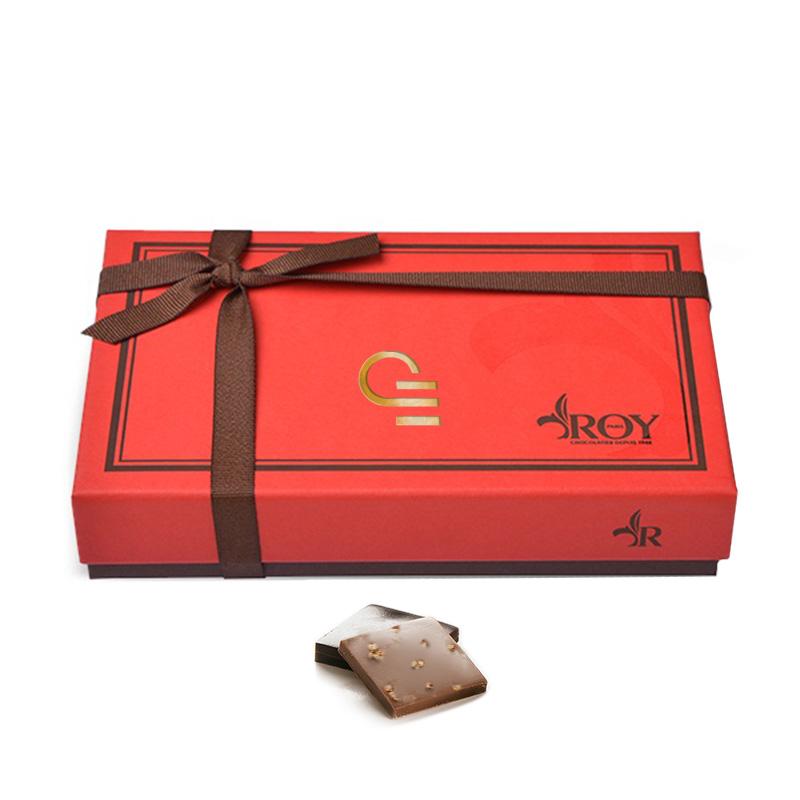 Chocolats publicitaires - Boîte de chocolats carrés Roy 340 g