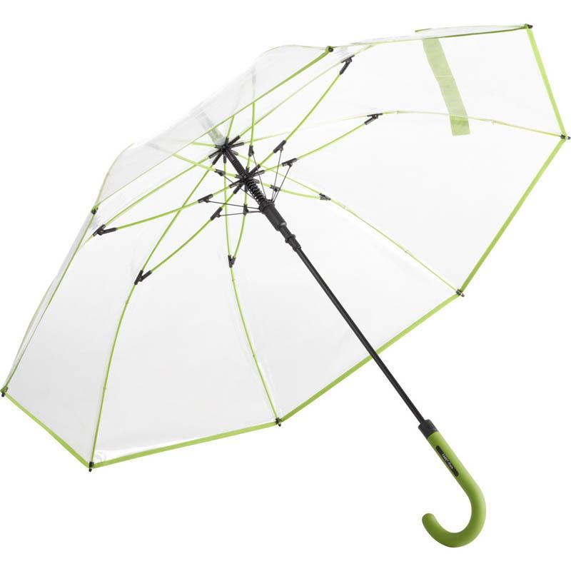 Parapluie personnalisé Pure - Parapluie transparent rouge