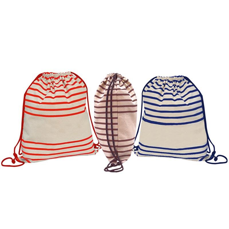 Gymbag publicitaire à rayures Striped - sac à dos personnalisé