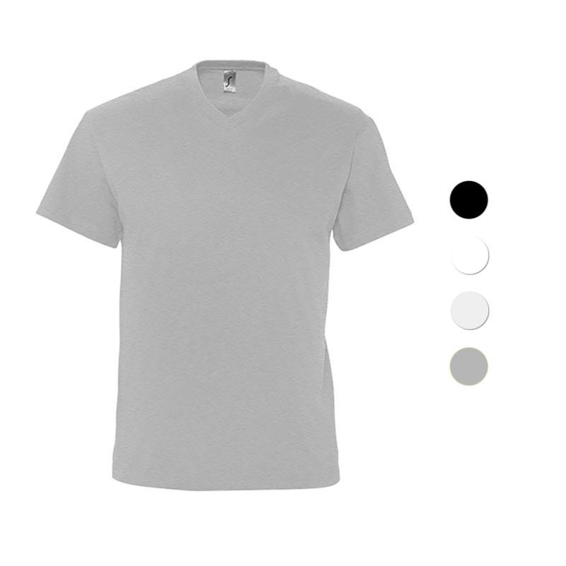 Tee-shirt personnalisé col V en coton Victory