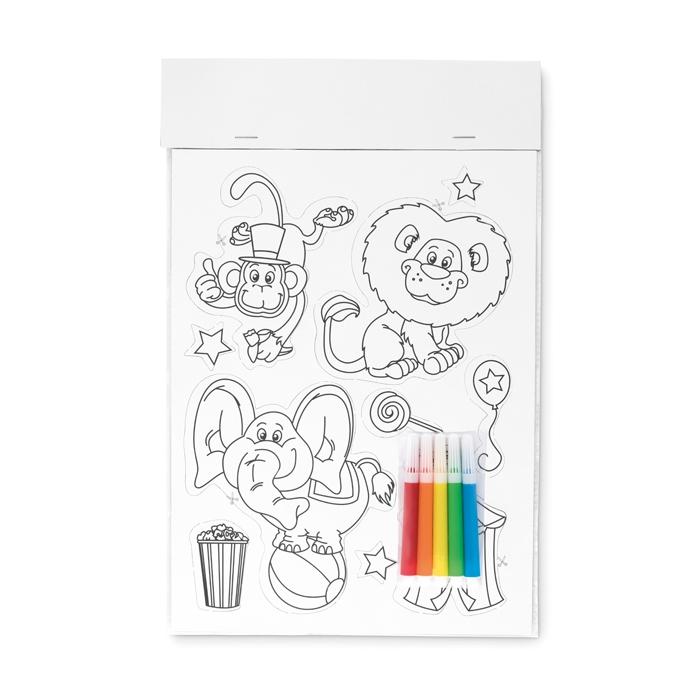 Goodies - Magnets aimantés publicitaires à colorier Magcolour