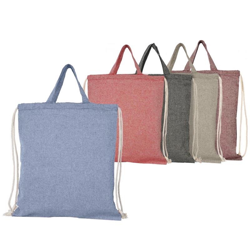 Gym bag et tote bag en coton recyclé - coloris