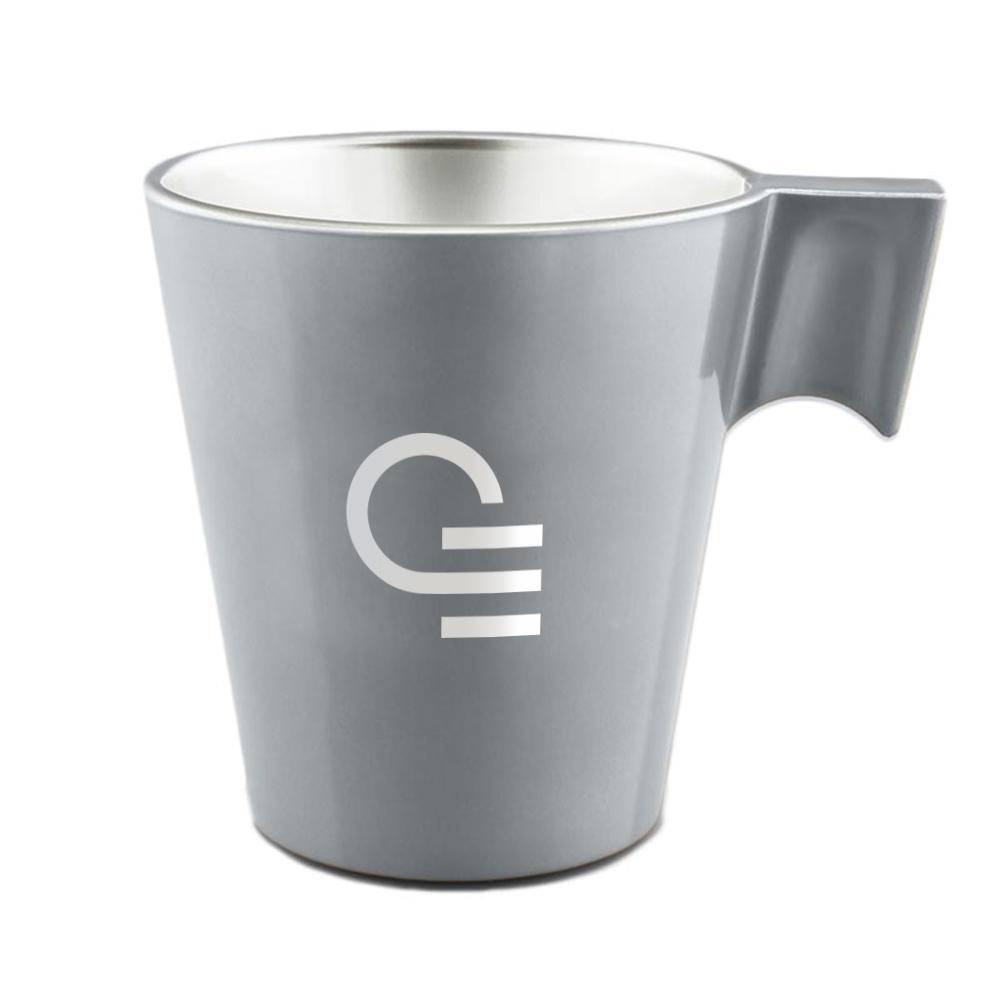 Mug publicitaire en verre Jumbo - Coloris argent