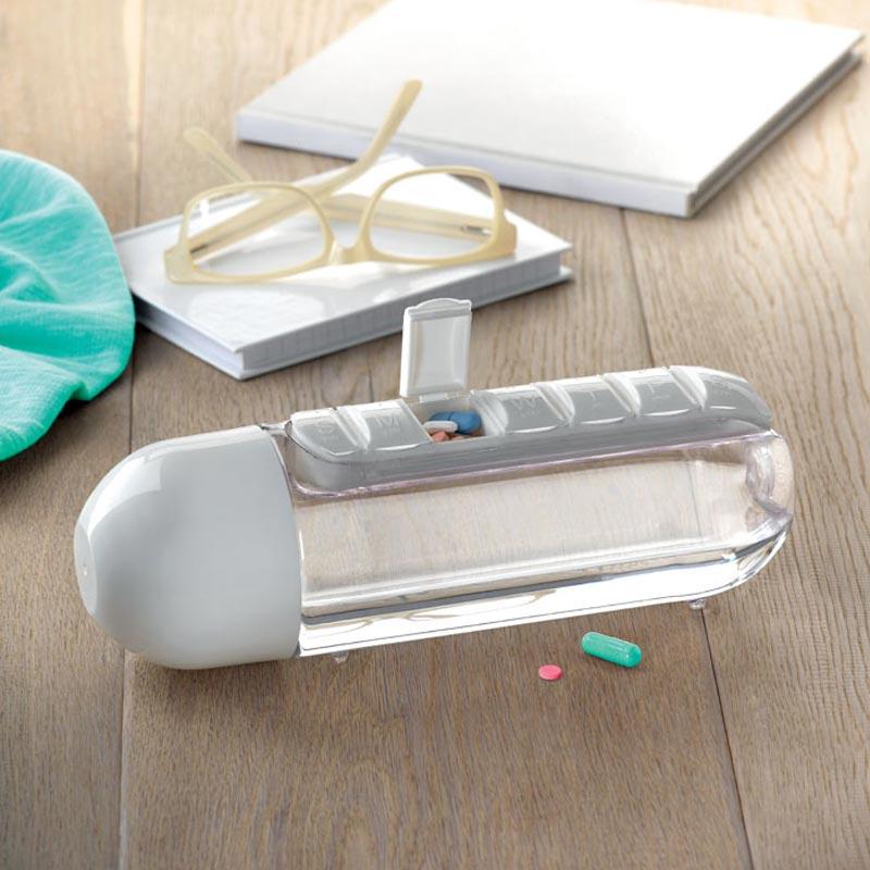 Cadeau publicitaire - Bouteille et pilulier intégré Bottle Pill