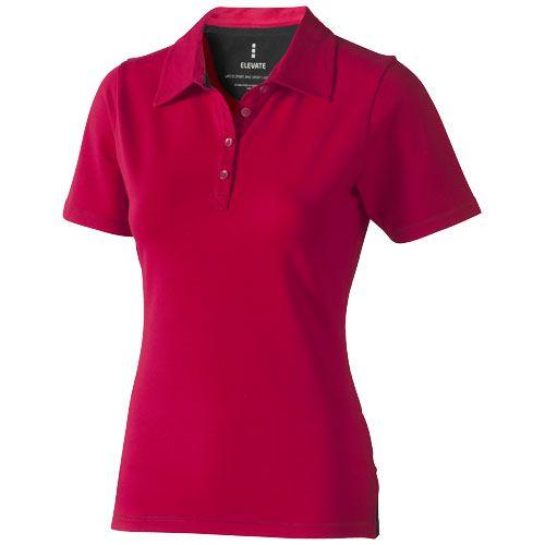 Polo rouge manches courtes pour femme
