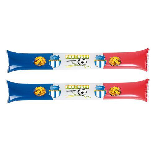 objet publicitaire sport -  Set de 2 bâtons de supporters personnalisés Tricolore