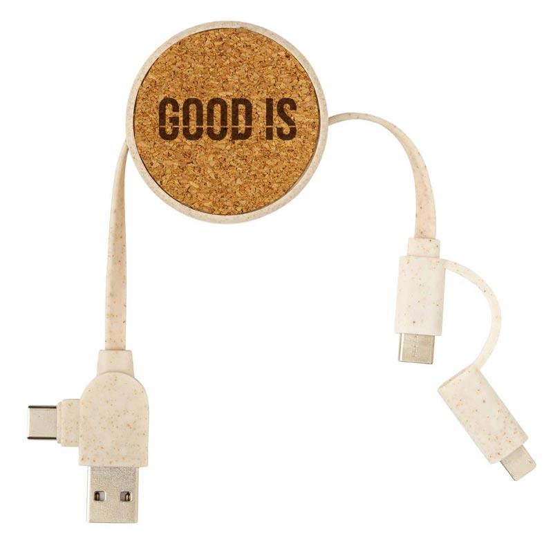 Câble USB publicitaire avec 6 connecteurs