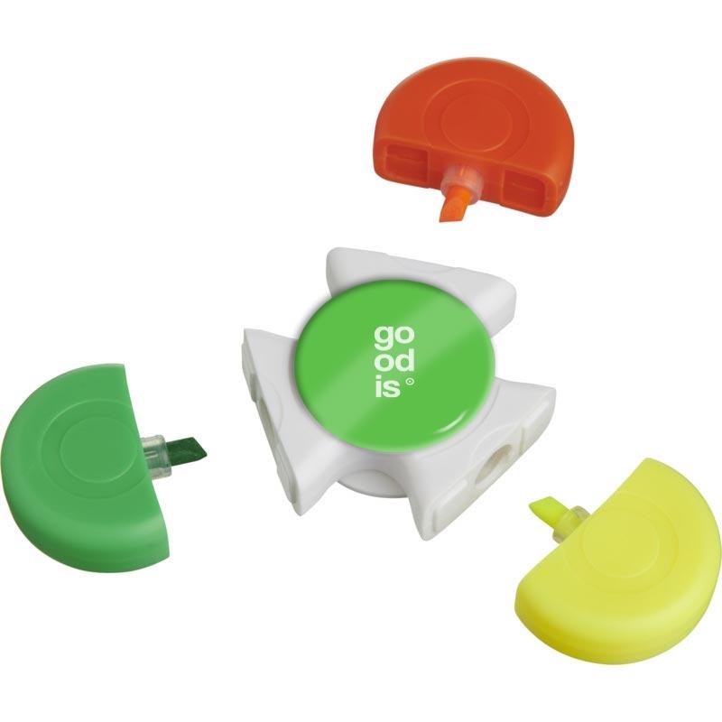 Surligneur personnalisé 3 couleurs et anti-stress Blume