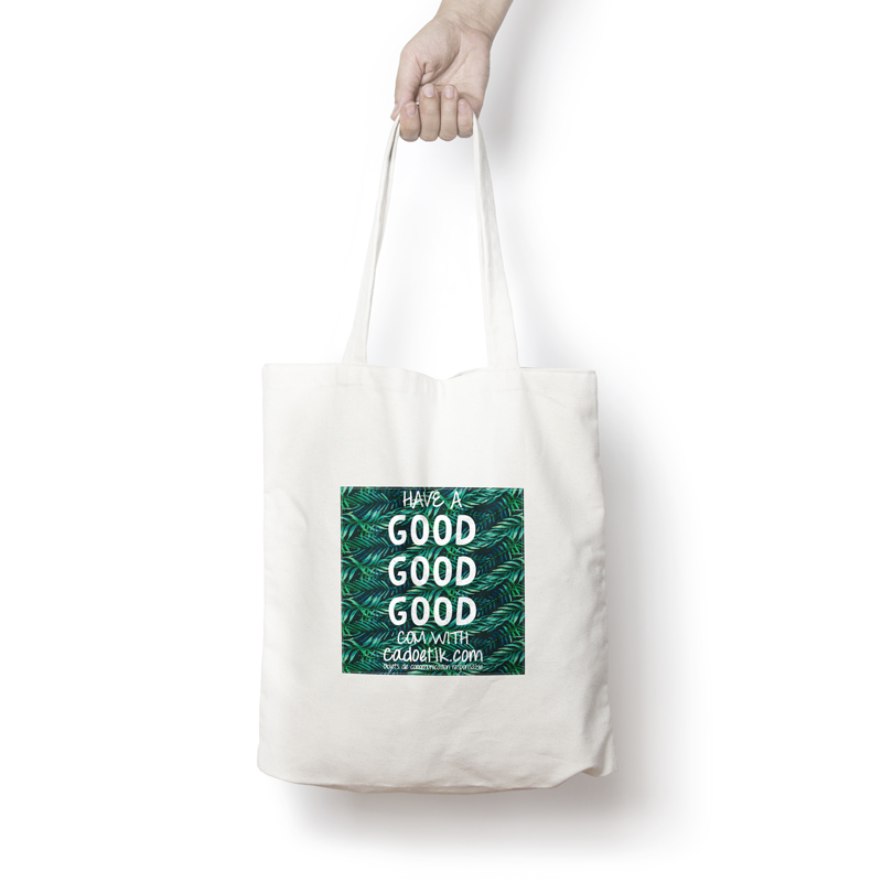 Sac shopping personnalisable AT blanc - Tote bag publicitaire