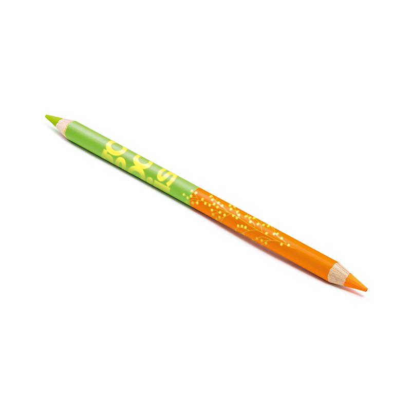 Crayon publicitaire surligneur fluo 17,6 cm Pantone Bi-coul - Goodies original