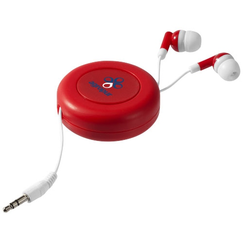 Écouteurs publicitaires rétractables Reely noirs - Goodies entreprise