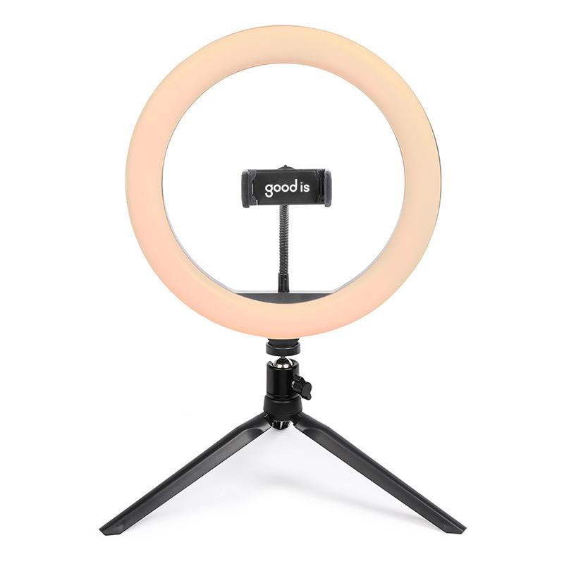 Anneau de lumière ring light sur trépied avec support de téléphone