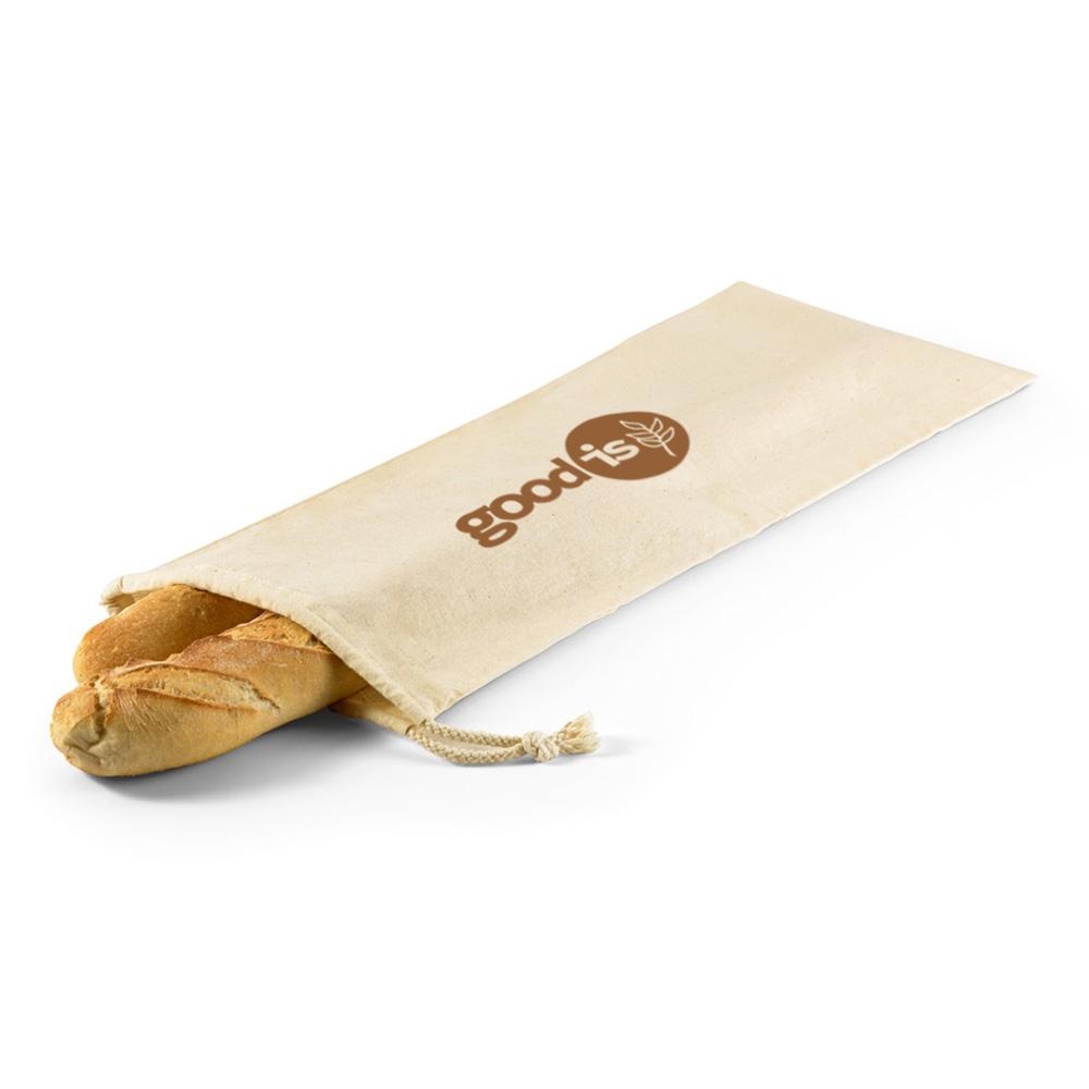 Sac à pain en coton Bread marron