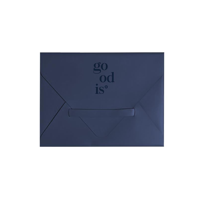 Porte-tablette en cuir recyclé bleu