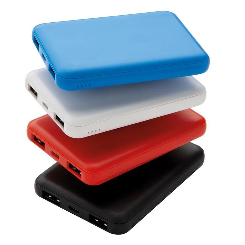 batterie de secours publicitaire de poche 500 mAh - coloris disponibles