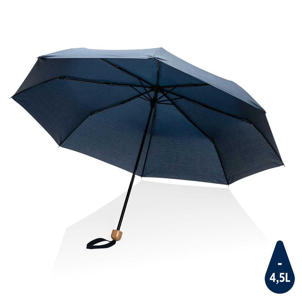Parapluie publicitaire 20 pouces en rPET Impact Aware bleu