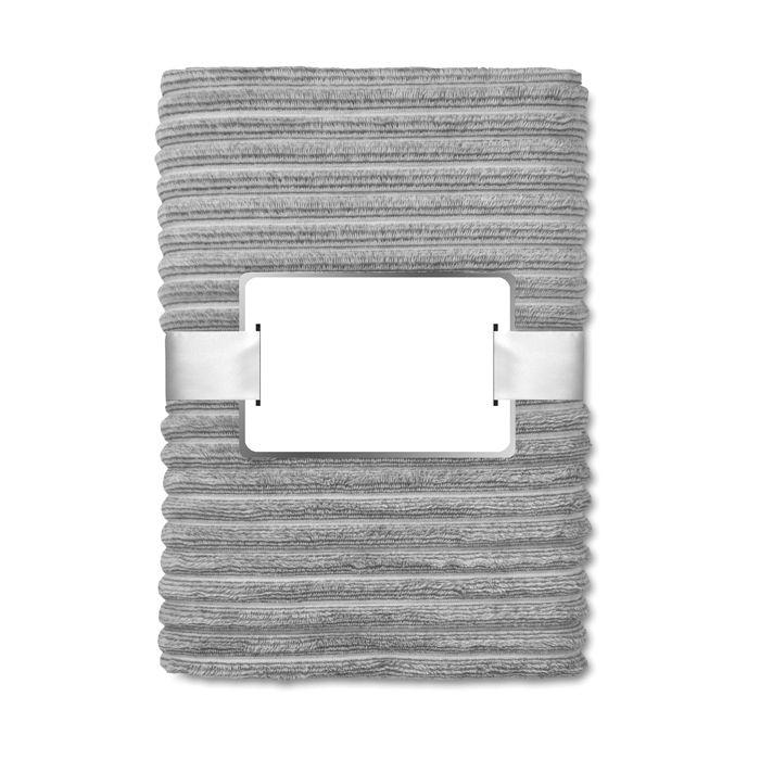 Cadeau d'entreprise textile - Couverture personnalisable flanelle grise Arosa