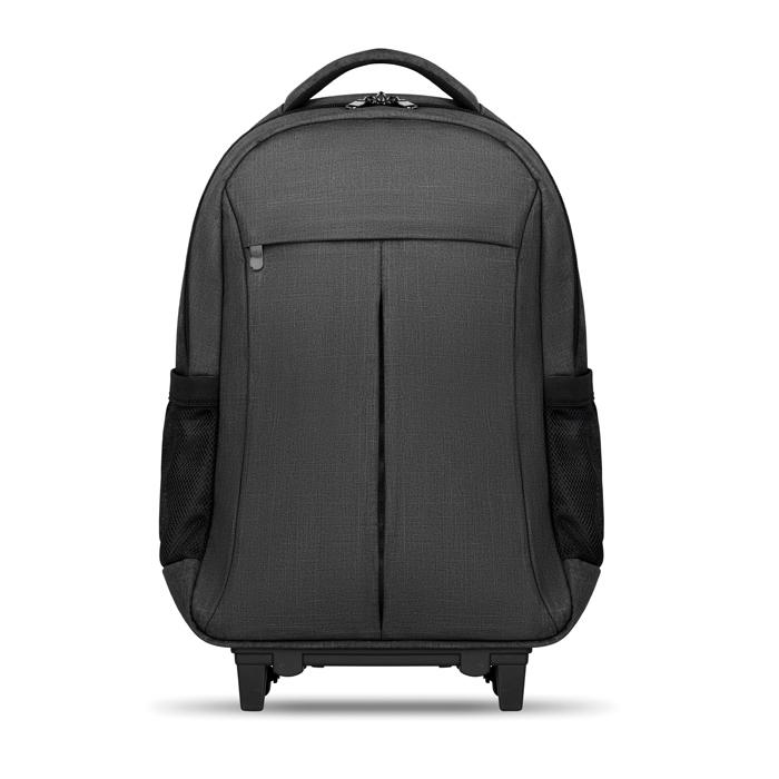 Trolley publicitaire sac à dos ordinateur Stockholm - sac à dos sur roulettes publicitaire