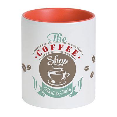 Mug publicitaire Bicolore pour sublimation 31 cl - mug personnalisable  - noir