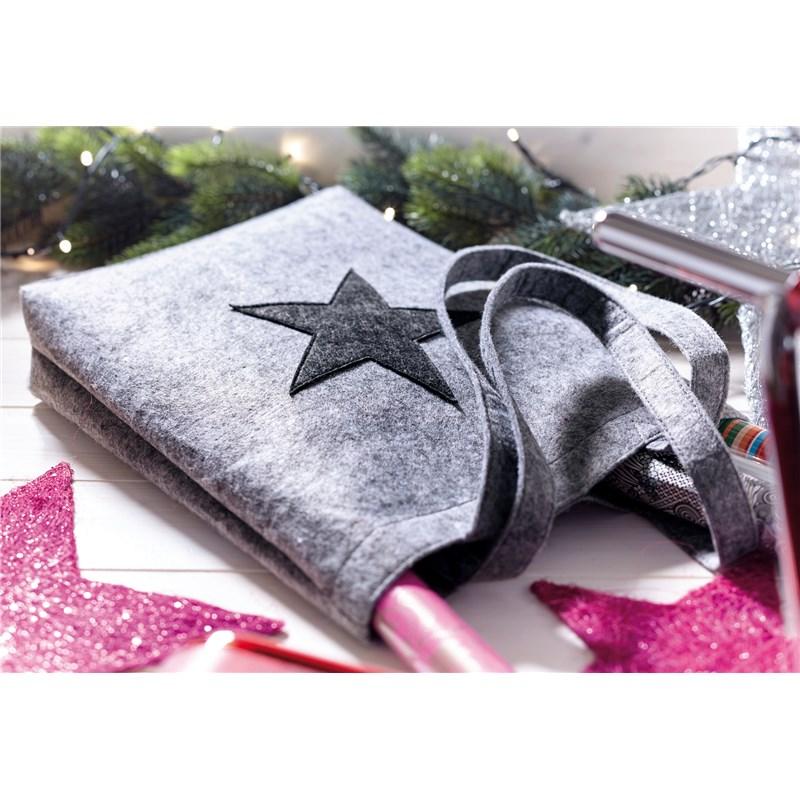 Sac shopping publicitaire en feutre Star Dust - sac tissu personnalisé