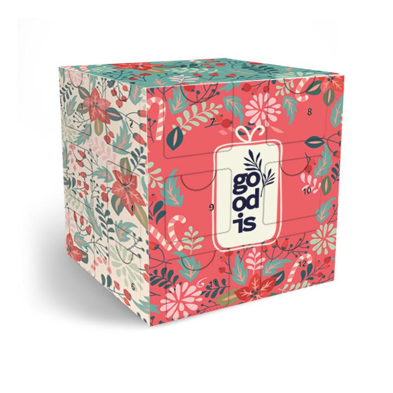 Calendrier de l'Avent personnalisé Cube - Boîte