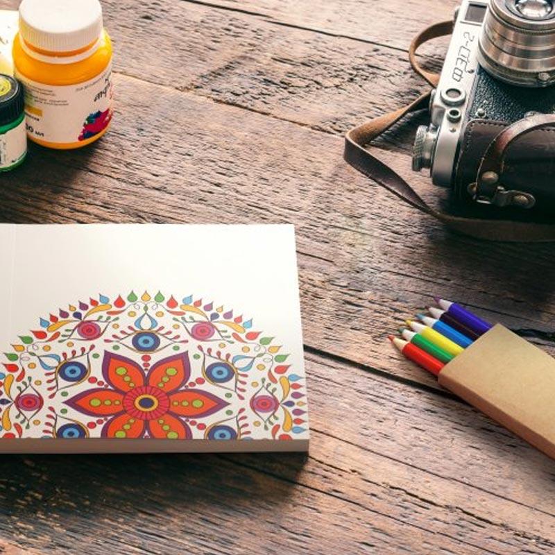 Set coloriage publicitaire Mandala - Cadeau promotionnel