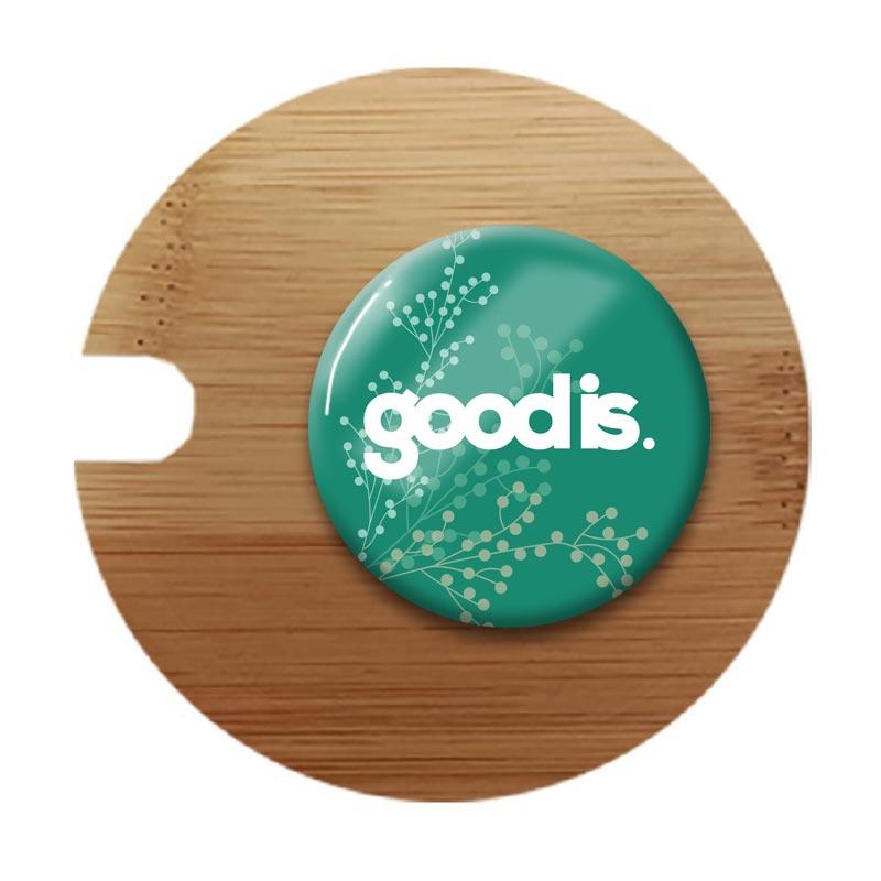 Couvercle en bambou pour mug publicitaire en porcelaine Kenya