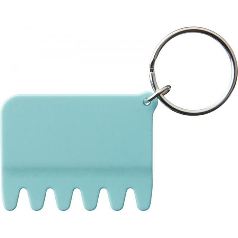 Porte-clés publicitaire brosse en silicone Brushy noir