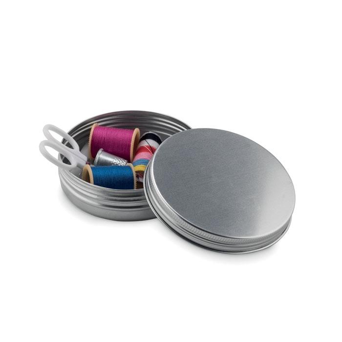 objet publicitaire - Set de couture publicitaire boîte ronde Cucire