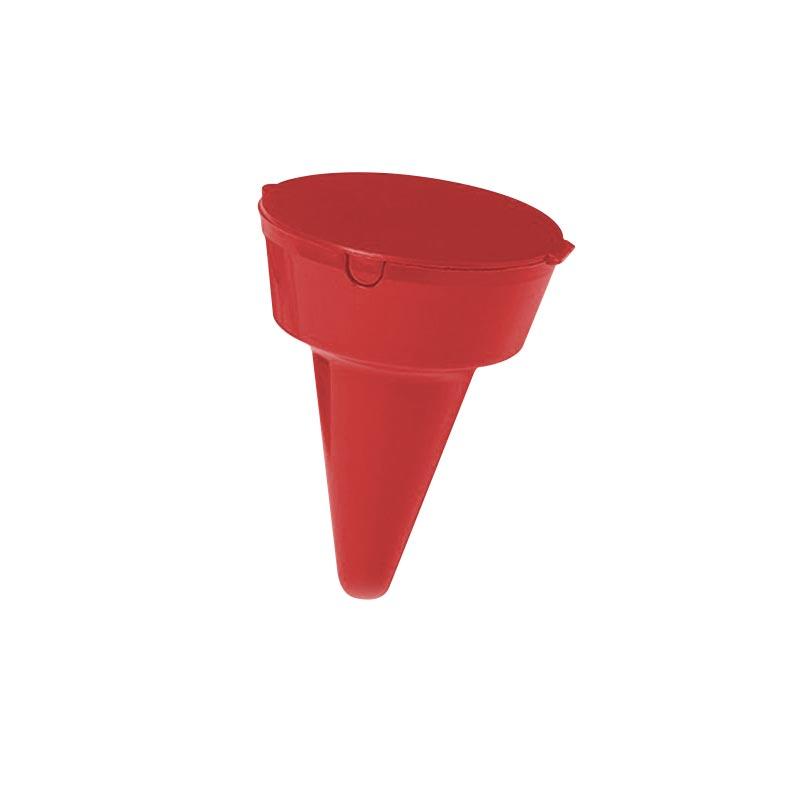Goodies entreprise - cendrier de poche publicitaire pour la plage Clopbox - rouge