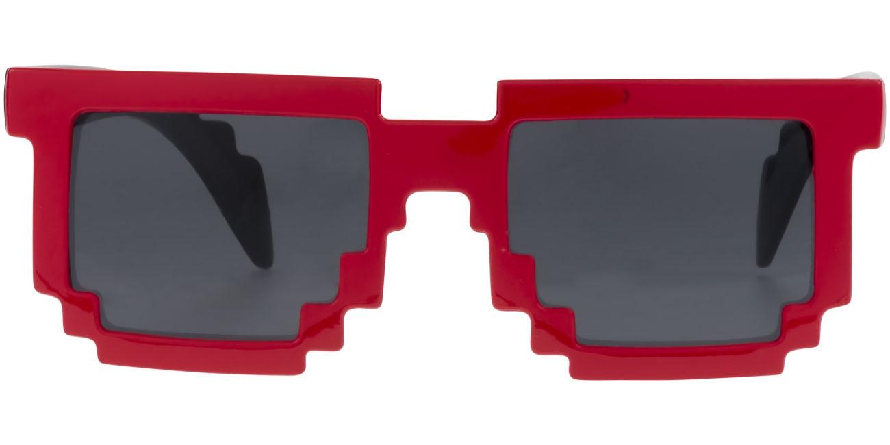 Lunettes de soleil publicitaire Pixel - rouge