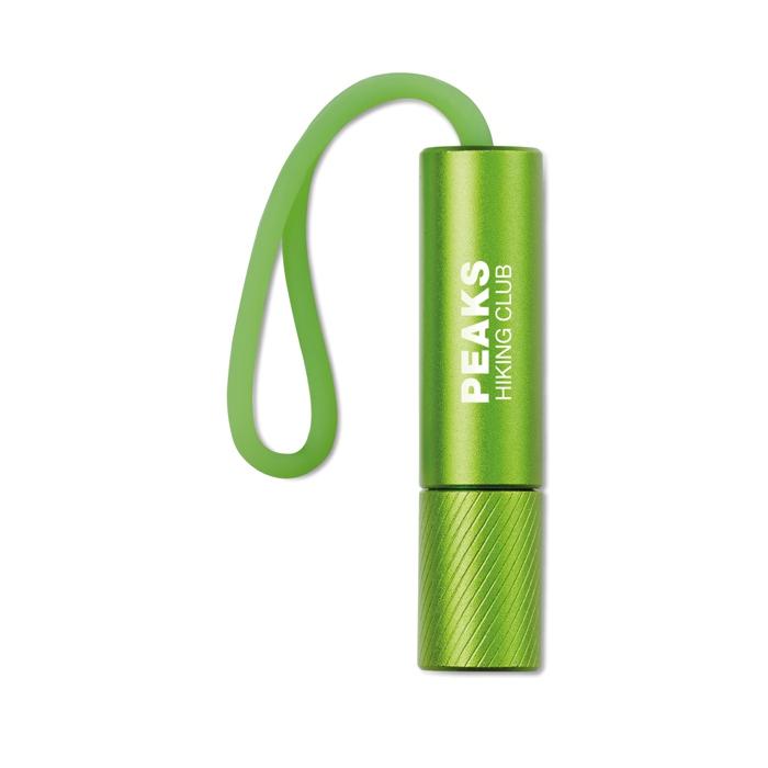 Goodies - Lampe de poche personnalisée Mini Glow avec lanière phosphorescente - orange