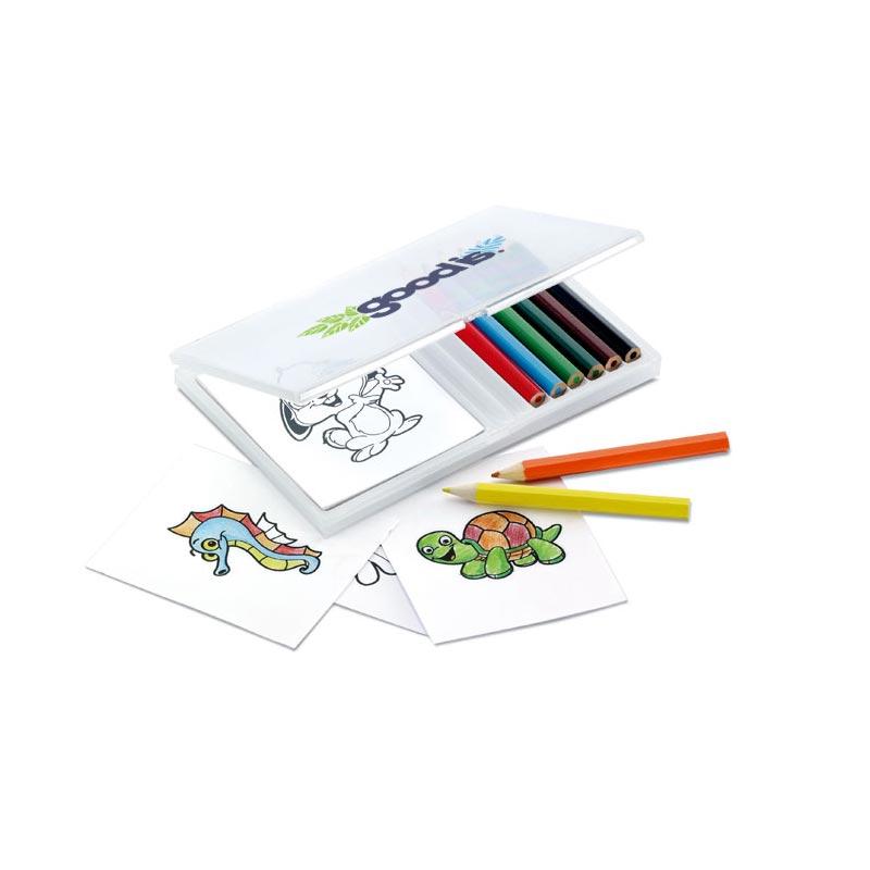 Set crayons de couleur et dessins de coloriage