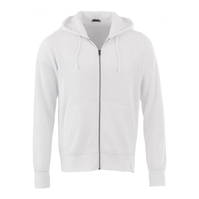 Sweater publicitaire à capuche full zip Cypress en coton et polyester