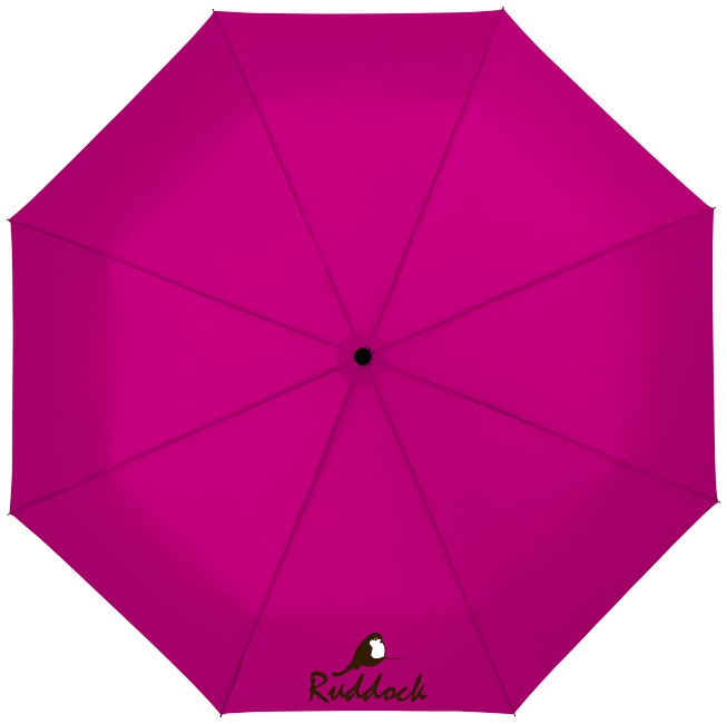 """Parapluie publicitaire 21"""" 3 sections ouverture automatique Wali - parapluie personnalisé - magenta"""