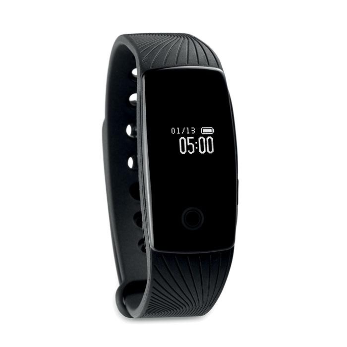 Bracelet publicitaire Bluetooth san Risum - noir