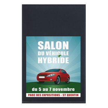 Objet publicitaire - Porte-carte grise 4 volets et 1 transparent