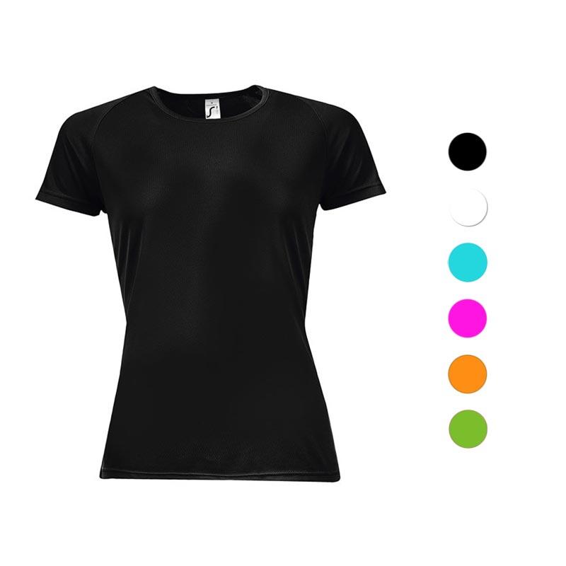T-shirt publicitaire femme Sporty - Coloris disponibles