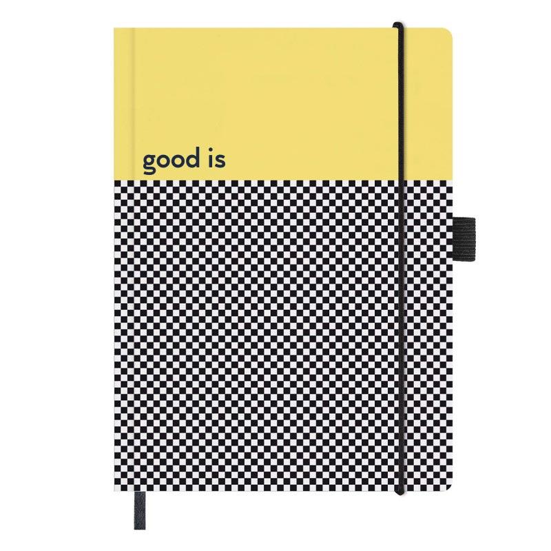 goodies écoresponsable - carnet personnalisé papier recyclé graph A5