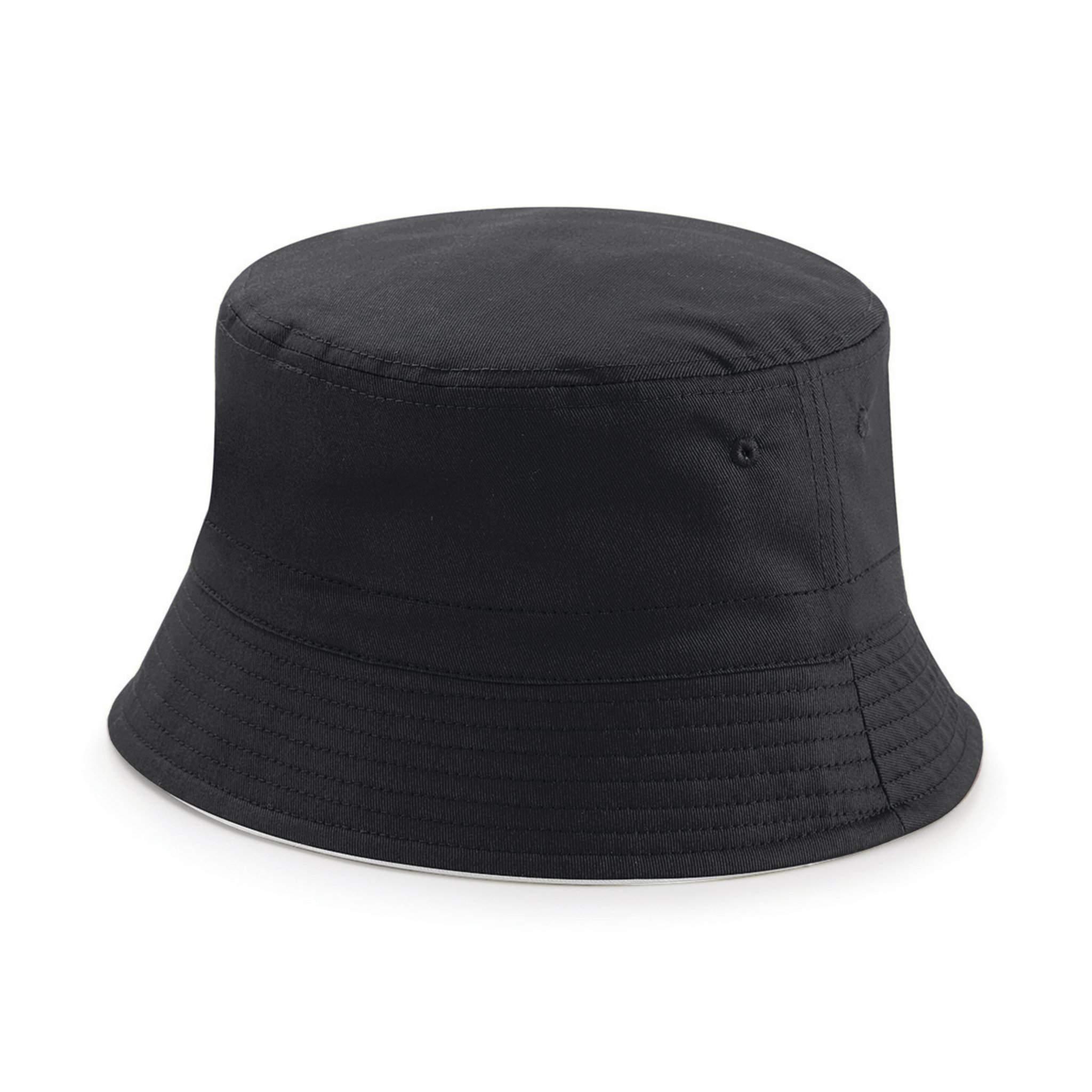Chapeau publicitaire Bucket - chapeau personnalisable noir/gris clair