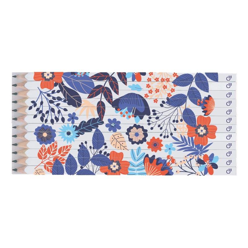 Set Quadri 12 crayons publicitaires Graphite 17,6 cm