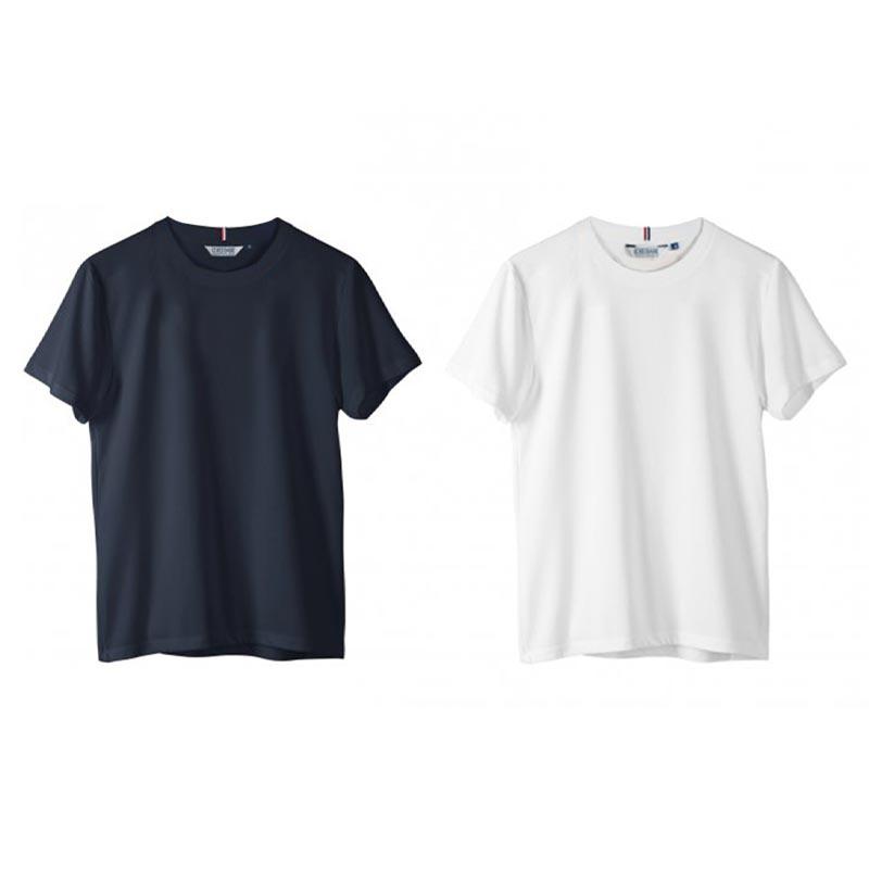 Tee-shirt publicitaire en coton biologique marine ou blanc