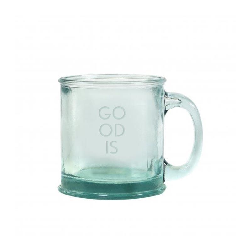 Mug personnalisé écologique Glossy en verre recyclé