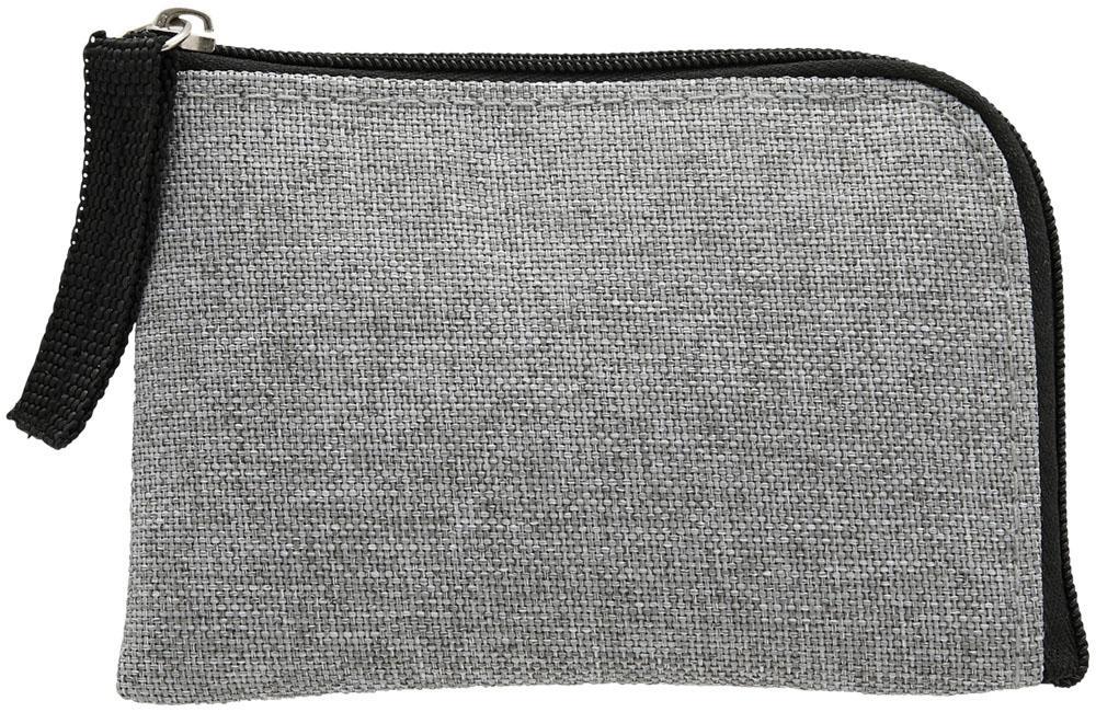 Porte-carte publicitaire bloqueur RFID Buffer gris