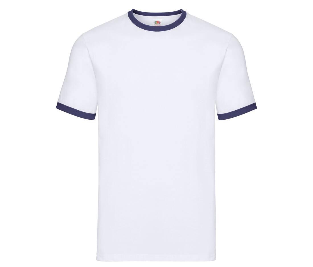 T-shirt publicitaire homme en coton Valueweight Ringer 1